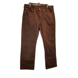 Levi's Brown 514 Jeans 34 x 34